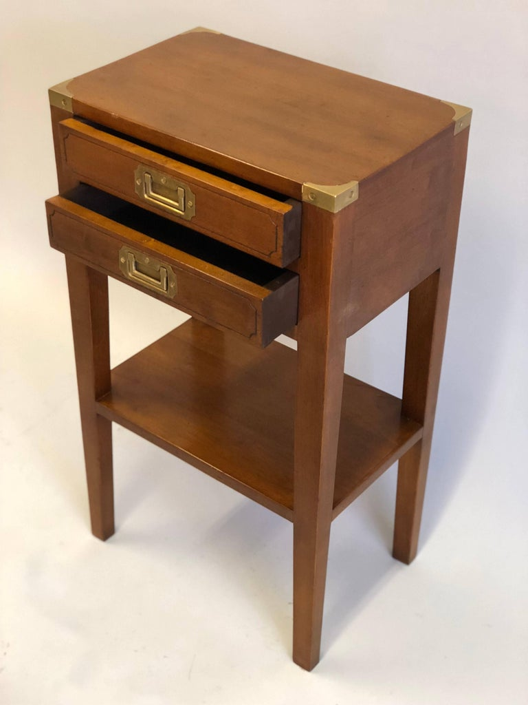 20th Century Pair French Mid-Century Modern Style Marine Nightstands / End Tables  For Sale