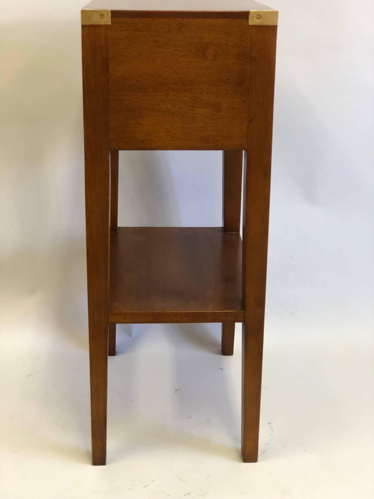 Pair French Mid-Century Modern Style Marine Nightstands / End Tables  For Sale 1