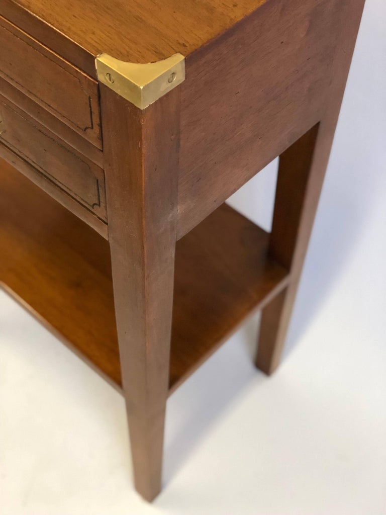 Pair French Mid-Century Modern Style Marine Nightstands / End Tables  For Sale 2