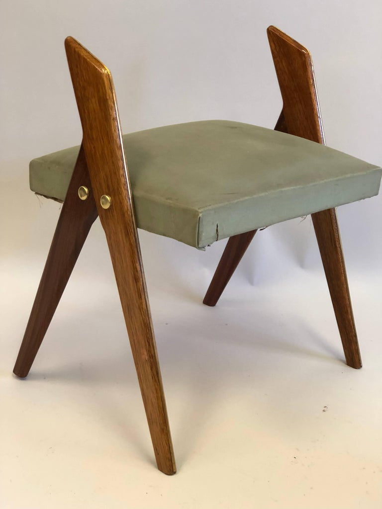 20th Century Pair of Italian Mid-Century Modern Benches or Stools, Osvaldo Borsani Attributed For Sale
