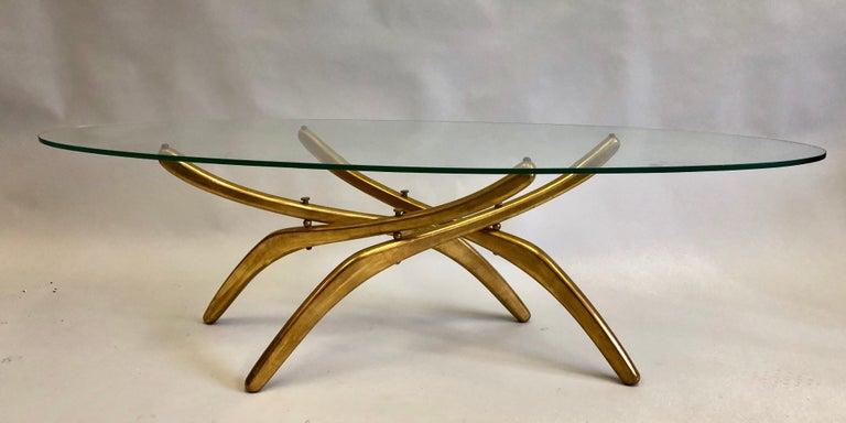 Rare Italian Mid-Century Modern 'Arachnid' Coffee Table Attr. to Carlo Mollino In Good Condition For Sale In New York, NY