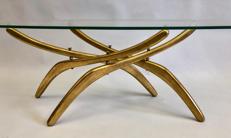 Rare Italian Mid-Century Modern 'Arachnid' Coffee Table Attr. to Carlo Mollino For Sale 1