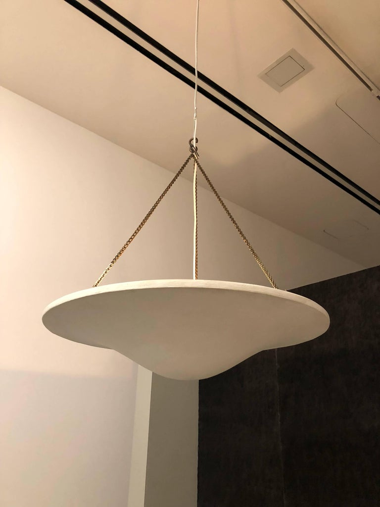 American Two French Plaster Chandelier / Pendants from a Design by Giacometti & JM Frank For Sale