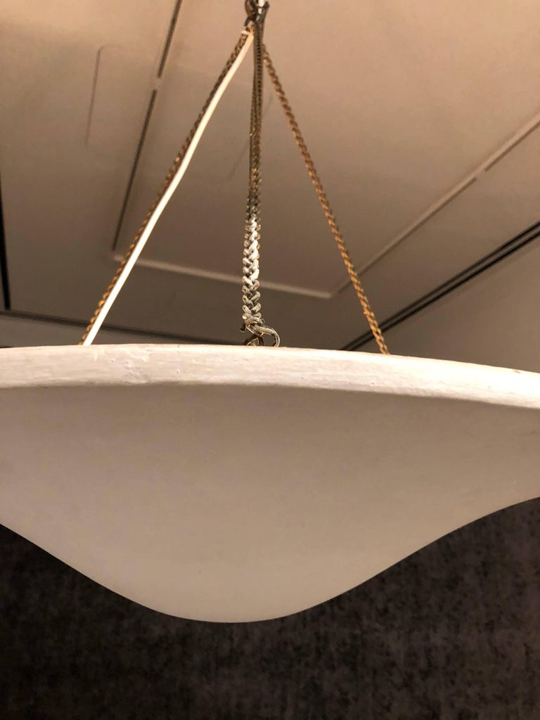 Two French Plaster Chandelier / Pendants from a Design by Giacometti & JM Frank In Good Condition For Sale In New York, NY