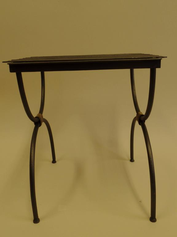 Three Pairs of French 1940s Modern Neoclassical Iron End Tables or Luggage Racks 6