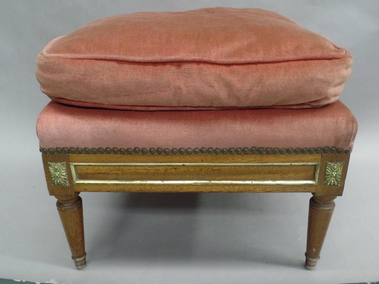 Pair of French Modern Neoclassical Stools / Benches Attributed to Jansen In Good Condition For Sale In New York, NY