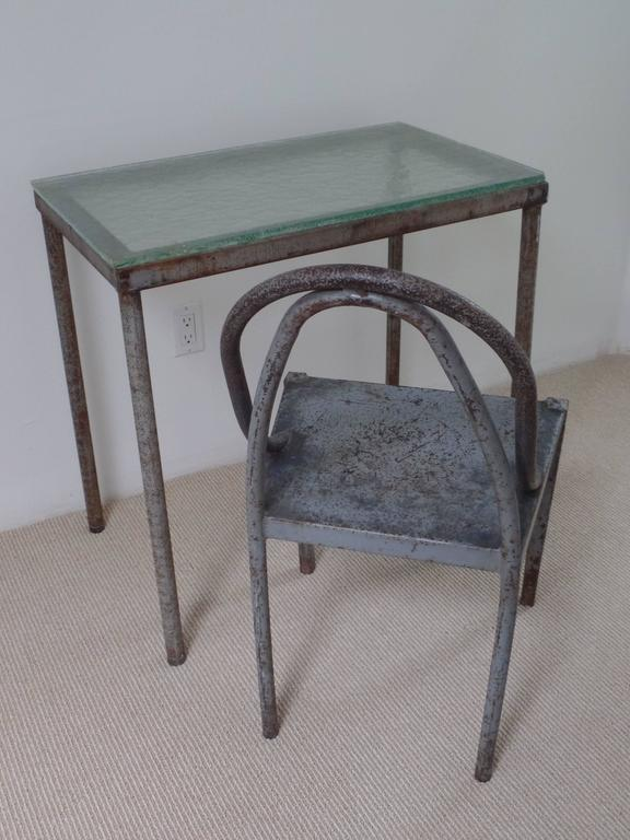 French Important Modernist Prototype Desk & Chair by U.A.M. Attributed to Le Corbusier For Sale