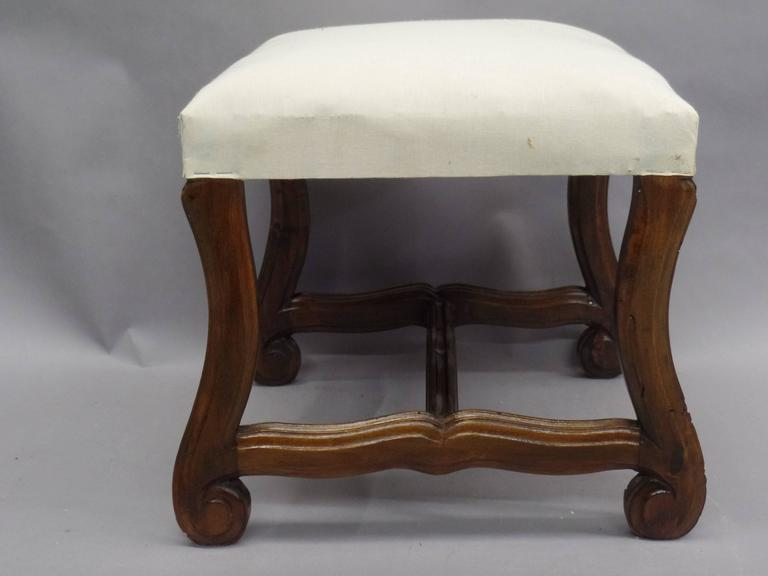 Pair of French 1930s Carved Stools or Benches in the Louis XIV Style 2