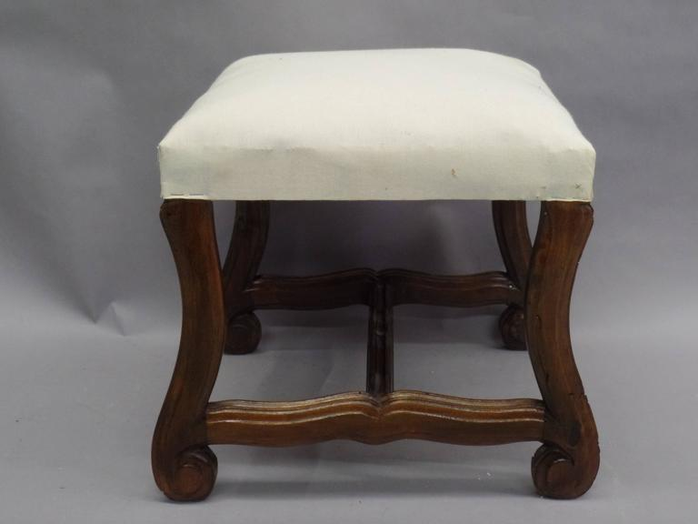 Pair of French 1930s Carved Stools or Benches in the Louis XIV Style 3