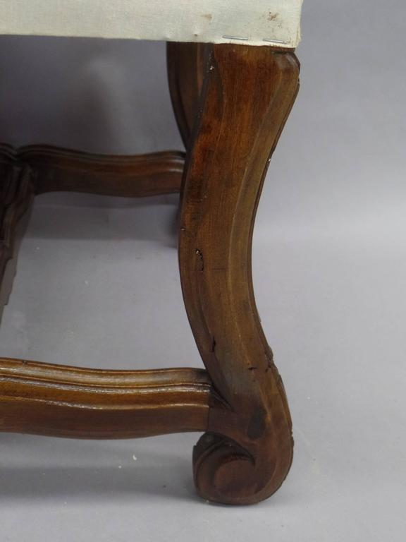 Pair of French 1930s Carved Stools or Benches in the Louis XIV Style 7