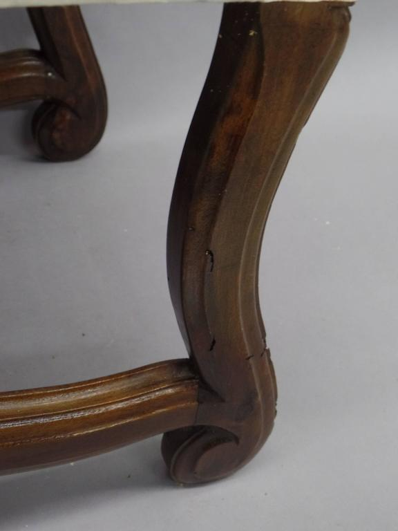 Pair of French 1930s Carved Stools or Benches in the Louis XIV Style 8