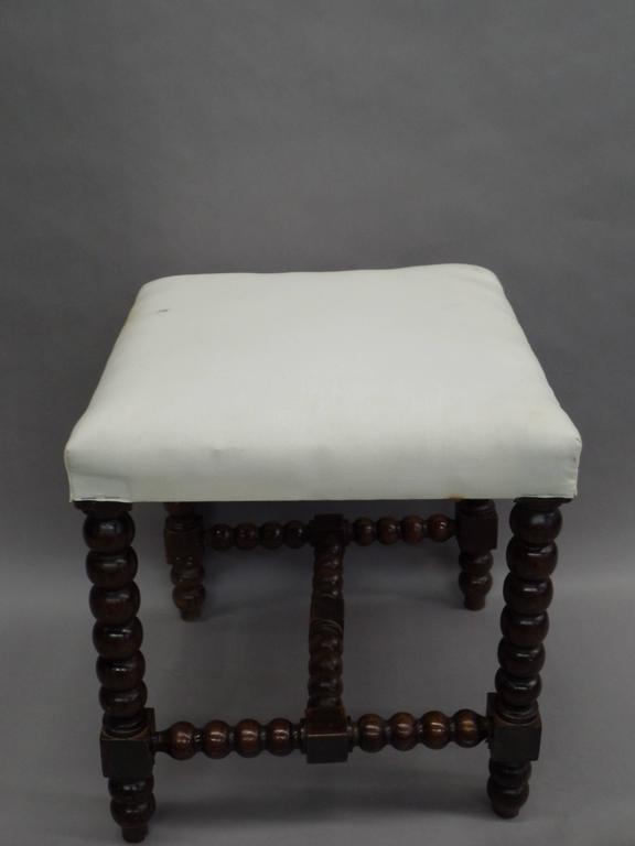 Pair of Louis XIII Style Hand-Carved Benches or Stools 3