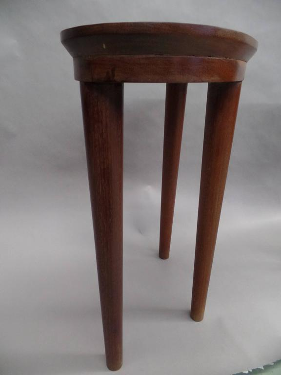Pair of French Colonial Solid Wood Side Tables / Consoles / Nightstands, 1930 In Good Condition For Sale In New York, NY