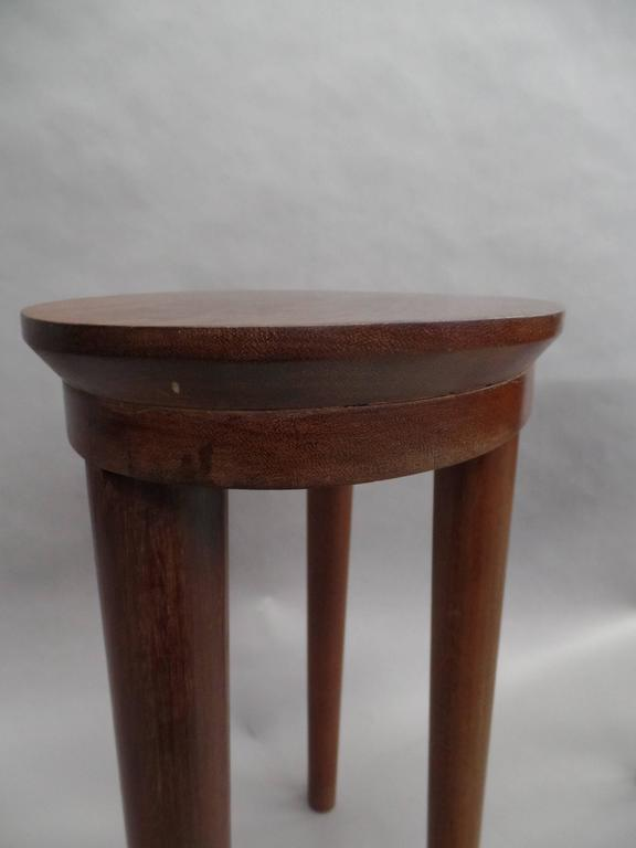 Pair of French Colonial Solid Wood Side Tables / Consoles / Nightstands, 1930 For Sale 2
