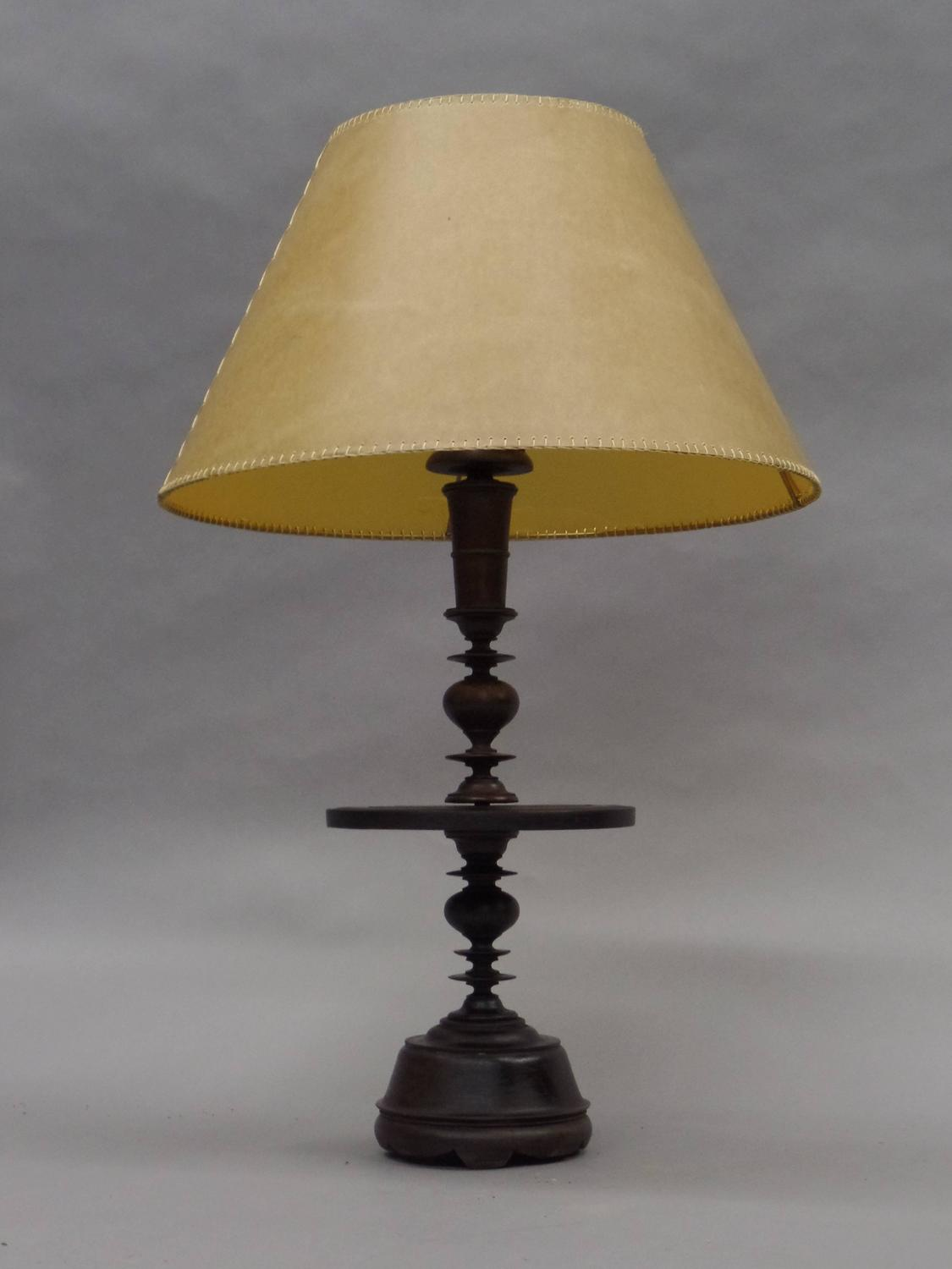 pair of iberian carved wood table lamps for sale at 1stdibs. Black Bedroom Furniture Sets. Home Design Ideas