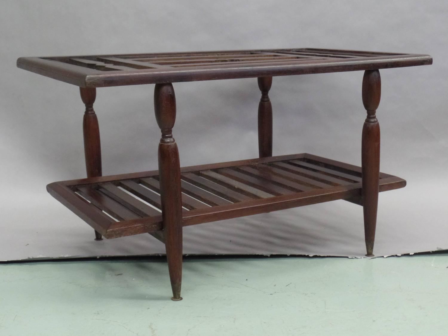 Double Level French Colonial Cocktail Table For Sale At 1stdibs
