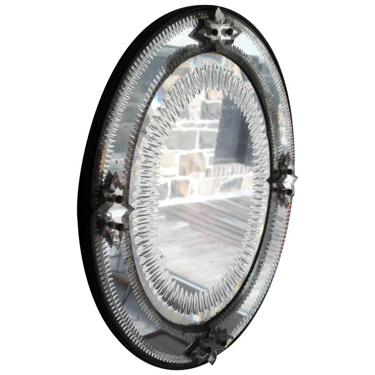 Italian, 1930s Engraved Sunburst Venetian Mirror 1