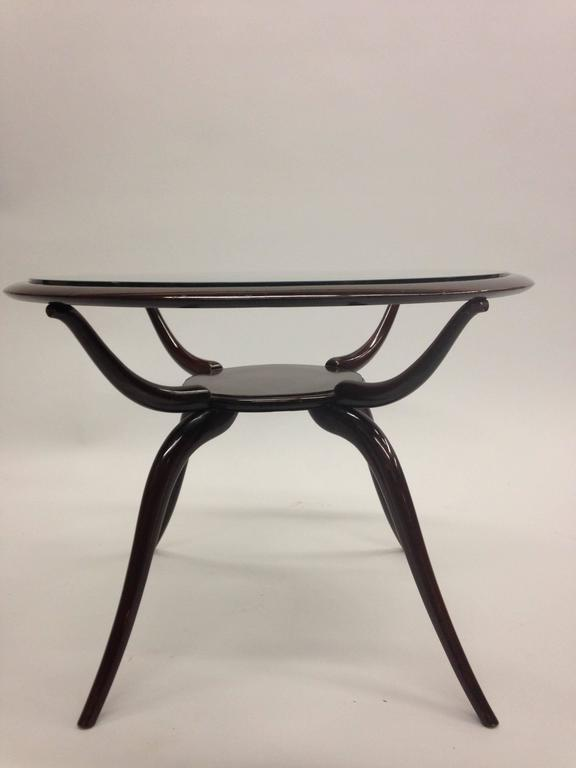 Glass Italian Mid-Century Modern Arachnid Coffee / Side Table, Guglielmo Ulrich, 1940 For Sale