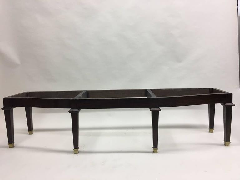 Mid-Century Modern Large French 1940s Modern Neoclassical Bench Attributed to Andre Arbus For Sale