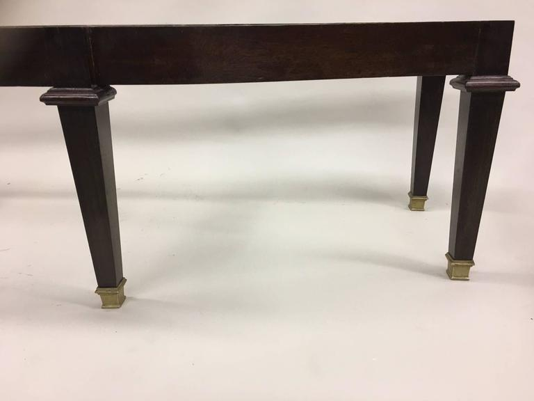 Mid-20th Century Large French 1940s Modern Neoclassical Bench Attributed to Andre Arbus For Sale