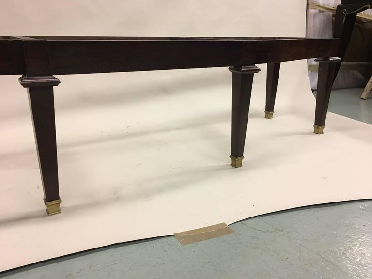Large French 1940s Modern Neoclassical Bench Attributed to Andre Arbus In Good Condition For Sale In New York, NY