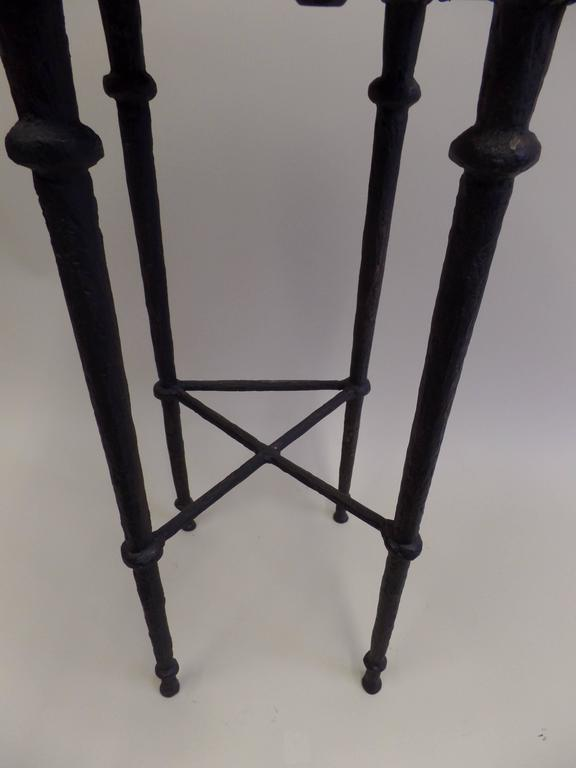 Three French Mid-Century Modern Neoclassical Solid Bronze Bar Stools, Giacometti 7