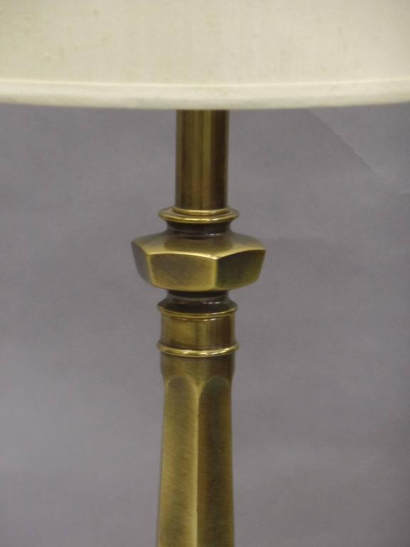 Pair of British Mid-Century Brass Baluster Table Lamps 6