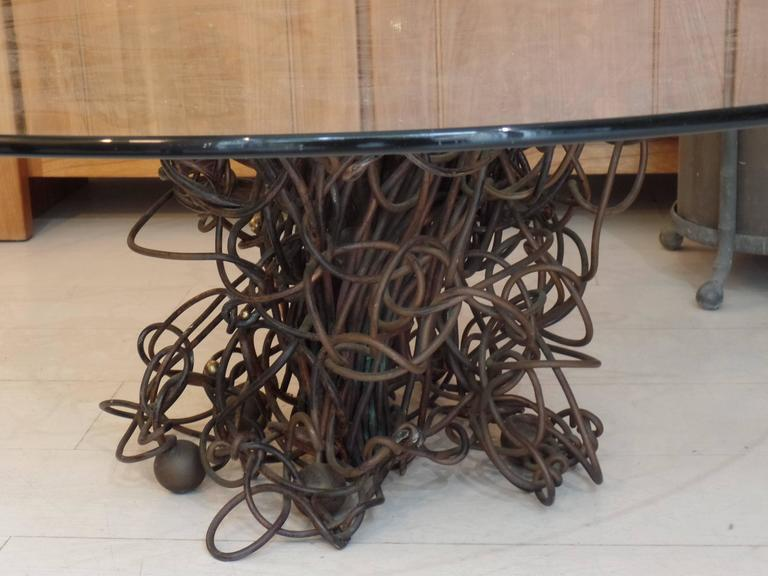 French Mid-Century Coffee Table / Sculpture in Compressed Copper & Bronze, Cesar In Good Condition For Sale In New York, NY