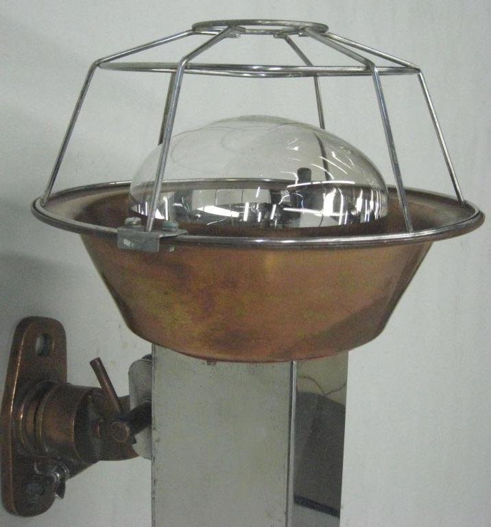 French Industrial Wall Lights : Pair of French Industrial Wall Lights / Sconces For Sale at 1stdibs