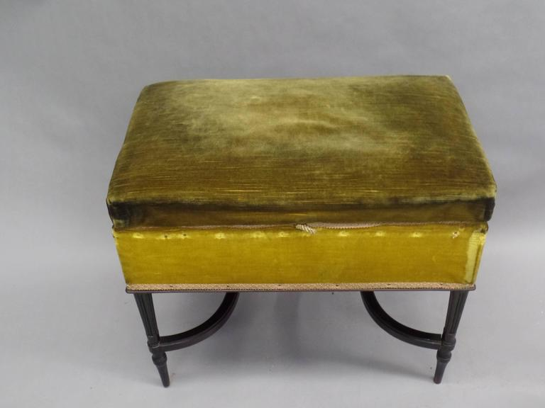 French 1940s Modern Neoclassical Piano Bench 5