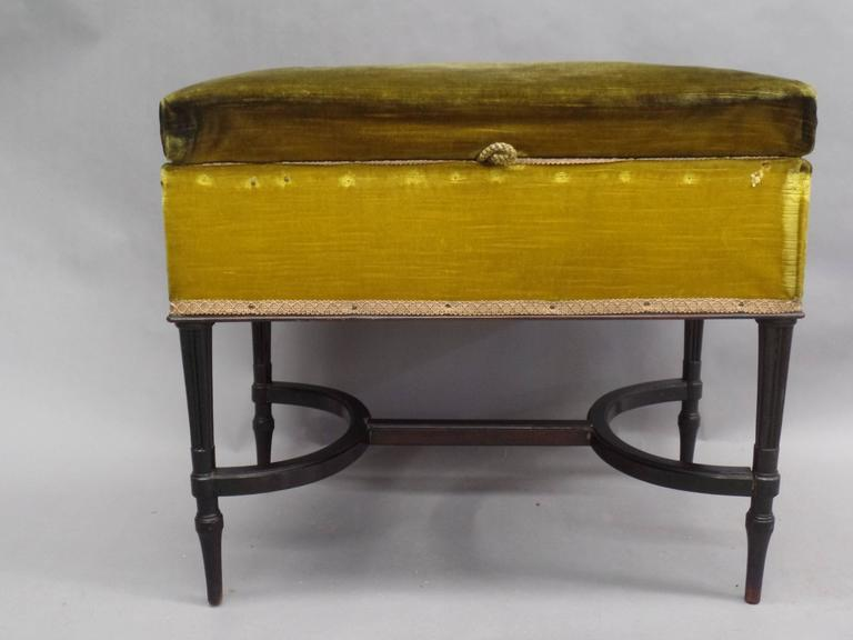 French 1940s Modern Neoclassical Piano Bench 2