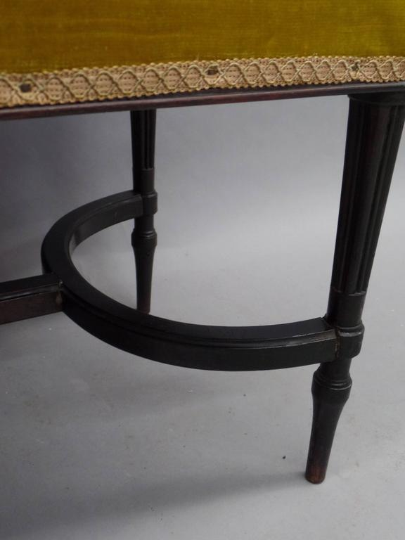 French 1940s Modern Neoclassical Piano Bench 8