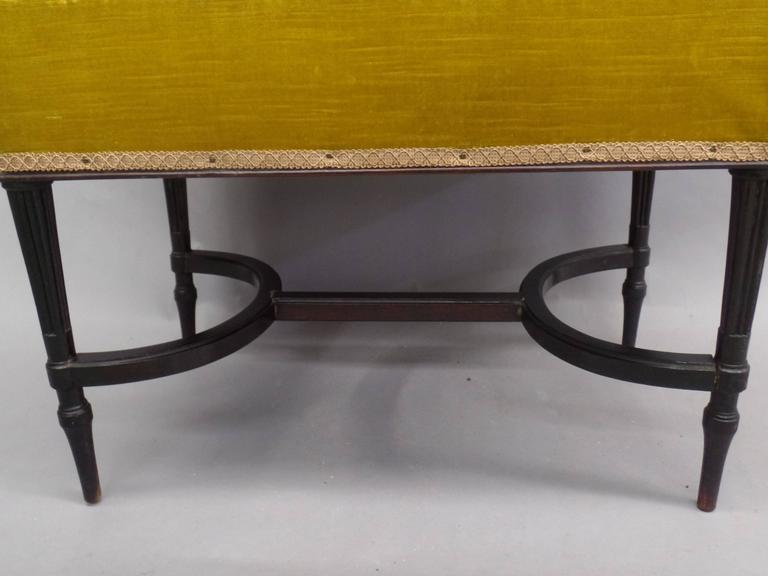 French 1940s Modern Neoclassical Piano Bench 7
