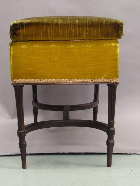 French 1940s Modern Neoclassical Piano Bench 3