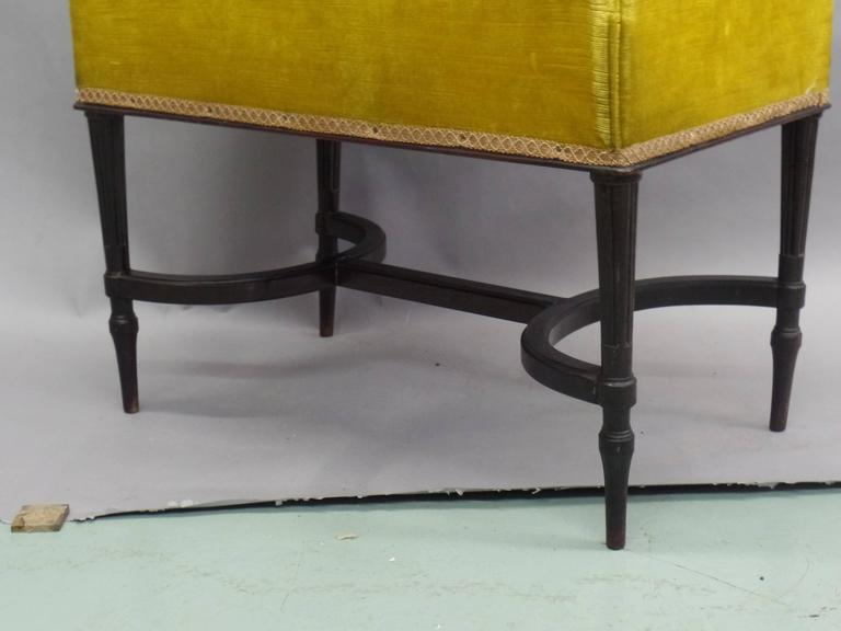 French 1940s Modern Neoclassical Piano Bench 6