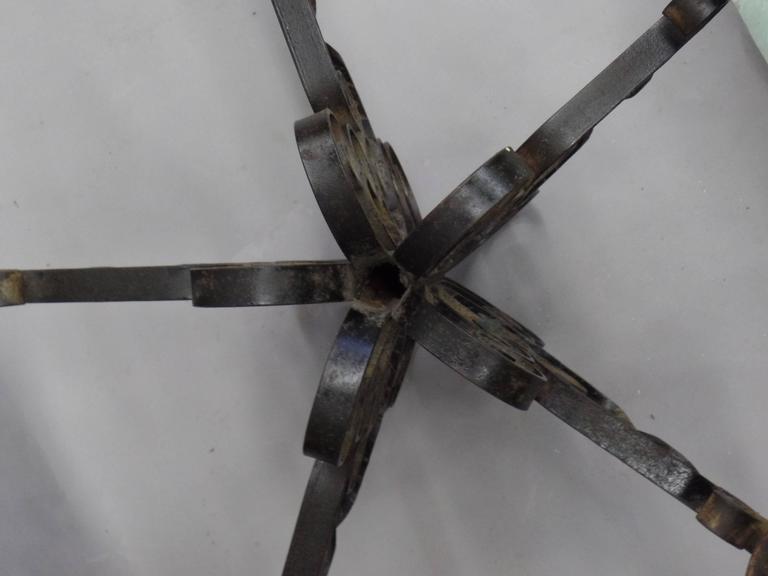 Spanish Wrought Iron Midcentury Candelabra, Centerpiece, Chandelier 6