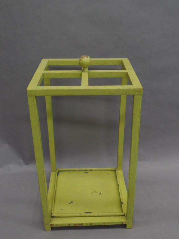 Early Modernist Umbrella Stand with Original Paint 3
