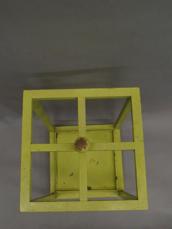 Early Modernist Umbrella Stand with Original Paint 6