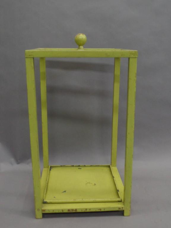 Early Modernist Umbrella Stand with Original Paint 4