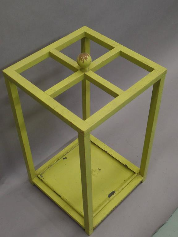 Early Modernist Umbrella Stand with Original Paint 2