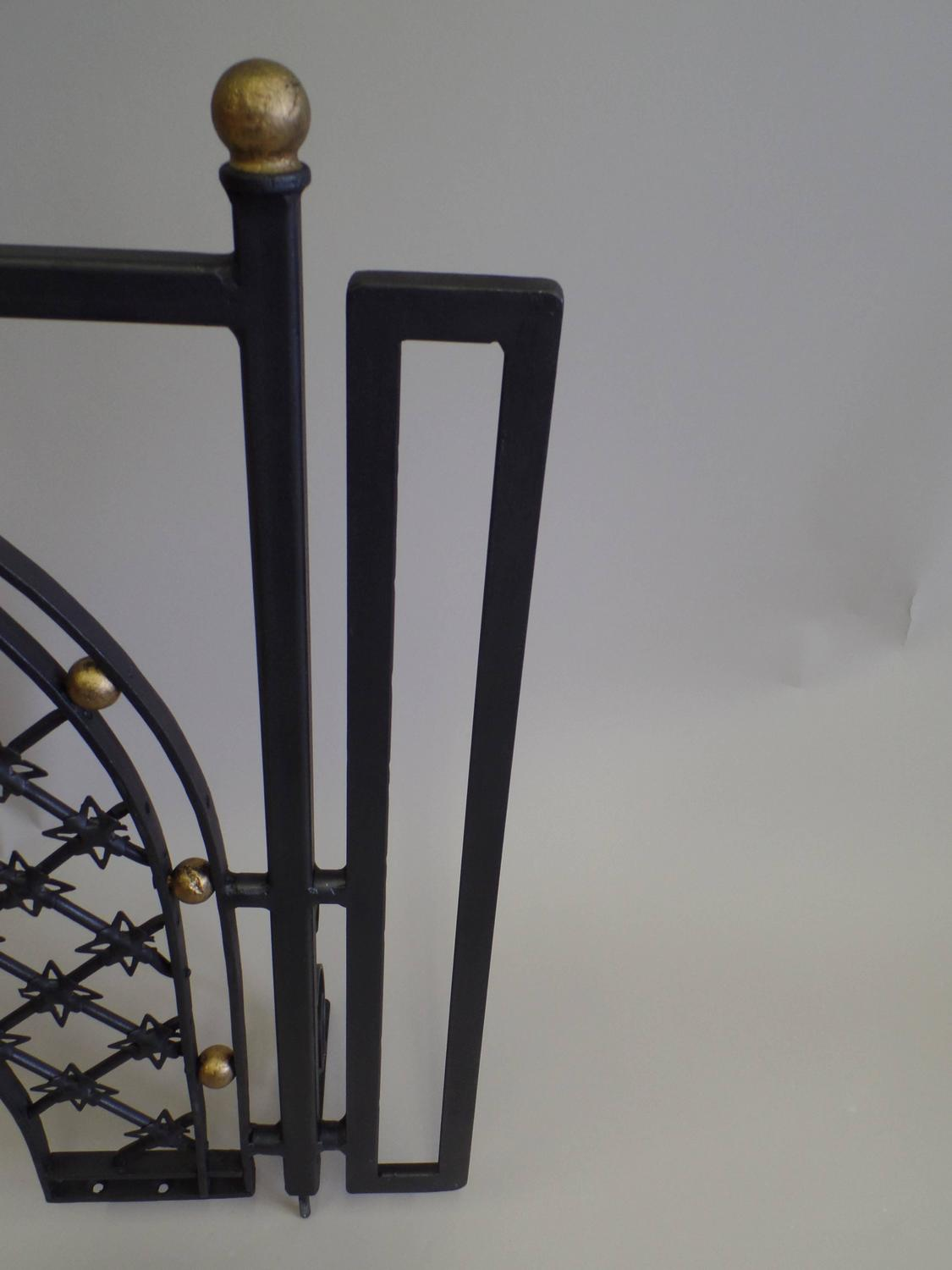 Two French 1940s With Wrought Iron Fire Screens Attributed To Gilbert Poillerat For Sale At 1stdibs