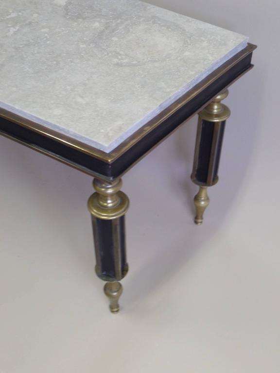 Rare French Mid-Century Gilt Bronze Coffee Table Attributed to Gilbert Poillerat For Sale 2