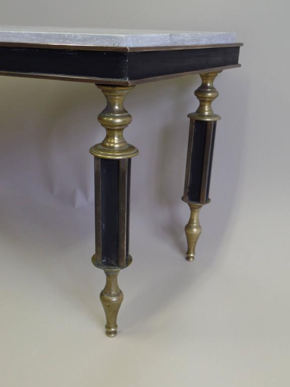 Rare French Mid-Century Gilt Bronze Coffee Table Attributed to Gilbert Poillerat For Sale 3