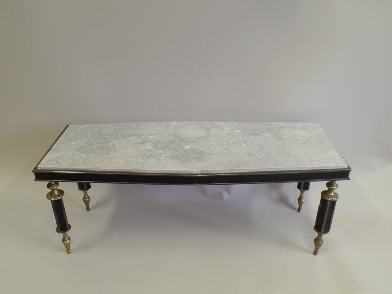Rare French Mid-Century Gilt Bronze Coffee Table Attributed to Gilbert Poillerat In Good Condition For Sale In New York, NY