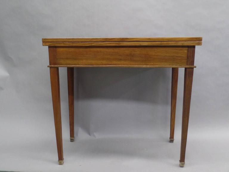 French Modern Neoclassical Louis XVI Style Game Table or Writing Desk, 1940 In Good Condition For Sale In New York, NY