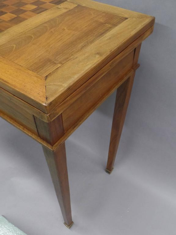 French Modern Neoclassical Louis XVI Style Game Table or Writing Desk, 1940 For Sale 1