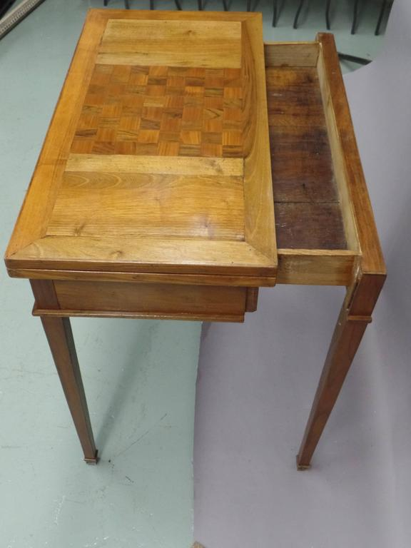 French Modern Neoclassical Louis XVI Style Game Table or Writing Desk, 1940 5