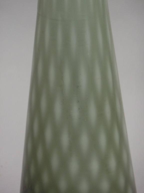 Pair of Large Mid-Century Modern Neoclassical Murano/Venetian Glass Table Lamps For Sale 1