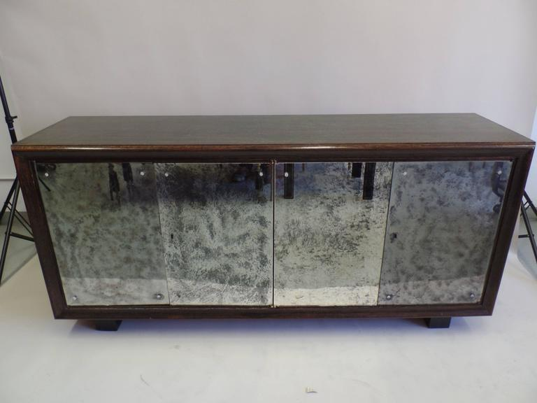 Important French 1930s Cerused and Mirrored Sideboard in Manner of Printz 2