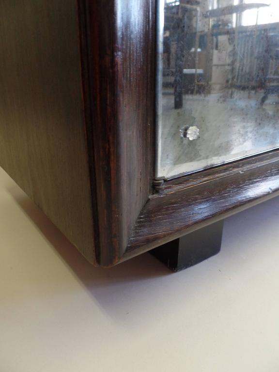 French Mid-Century Modern Cerused Oak & Mirrored Sideboard, Eugene Printz For Sale 5